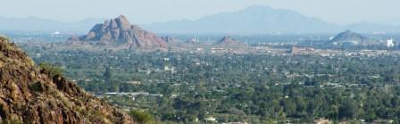 View of the Southeast Valley from the Squaw Peak trail - photo copyright Tony Pomykala 2006 (Click for full size photo!)